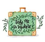 彩绘树枝行李箱