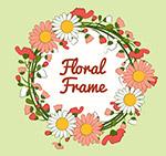 手绘雏菊花框架