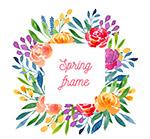 春季玫瑰花框架