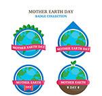 界地球日丝带标签