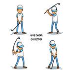 高尔夫男子动作