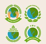 世界地球日地球标签