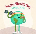 彩绘世界健康日