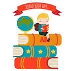 世界图书日书堆