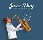 爵士乐日演奏的男子