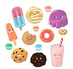 可爱表情甜品