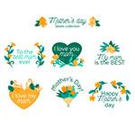 花卉母亲节标签