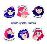 母亲节女子头像标签