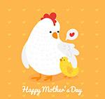 母亲节母鸡和鸡仔