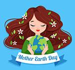 地球日怀抱地球
