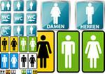 男女卫生间标识