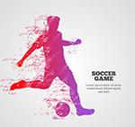 足球赛人物剪影