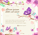 花枝和蝴蝶矢量