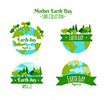 世界地球日树林标签
