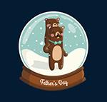 卡通父亲节棕熊