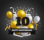 十周年纪念日气球