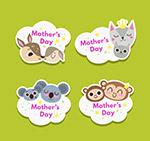母亲节动物头像标签