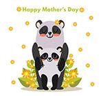 母亲节熊猫母子