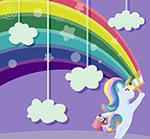 粉刷彩虹的独角兽