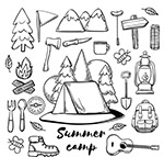 夏季野营元素