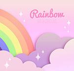 彩虹云朵背景