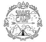 野营雪山下的帐篷