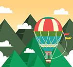 山间的热气球