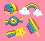 彩虹色物品