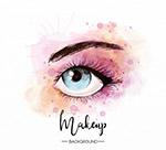 化妆的单只眼睛