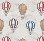 热气球无缝背景