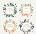 花卉和树叶框架