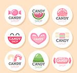 圆形糖果店标签