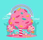 粉色糖果树