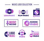 紫色音乐元素标志