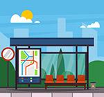 城市公交车站