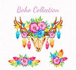 波西米亚风花卉装饰物