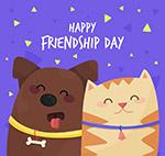 友谊日宠物狗和猫