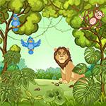 丛林里的野生动物