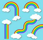 创意云朵彩虹