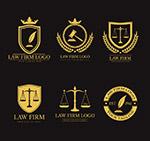 金色法律元素标志