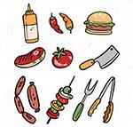 野营食物和工具
