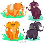卡通非洲象