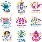 旅行元素标志