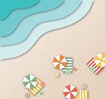 度假沙滩俯视图