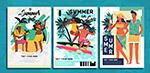夏季度假男女海报