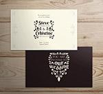 创意婚礼邀请卡片