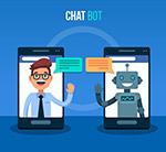 男子和聊天机器人