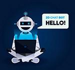 用电脑的聊天机器人