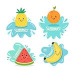 可爱夏季水果标签