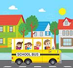 坐满儿童的校车